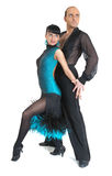 Type de Latina de danseurs de couples Photos stock
