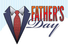 Type de logo de jour de pères Photographie stock libre de droits