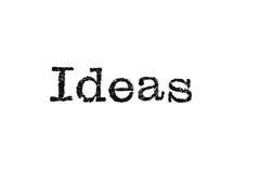 Type de machine à écrire d'idées Image libre de droits