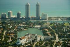 Vue aérienne de ville de Miami Photos libres de droits