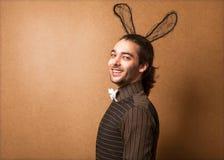 Type de mode dans des oreilles de lapin Photographie stock libre de droits