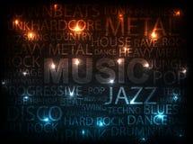 Type de musique Photographie stock libre de droits
