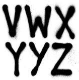 Type de police de peinture de jet de graffiti (alphabet de partie 4) Photos libres de droits
