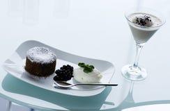 Type de restaurant de dessert de chocolat Image libre de droits