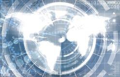 Type de technologie de carte du monde Photos libres de droits
