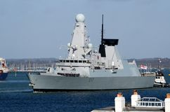 Type 45 destroyer le solent, Portsmouth photographie stock