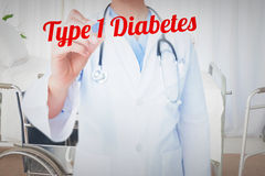 Type 1 diabetes against bright white room with windows Stock Photo