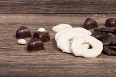 Type différent de fruits en chocolat Images libres de droits