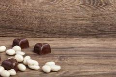 Type différent de fruits en chocolat Photos stock