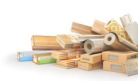 Type différent de matériaux de revêtement de plancher illustration libre de droits