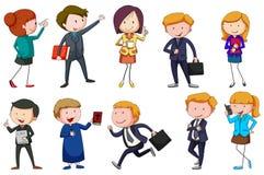 Type différent de professions Image stock