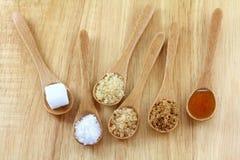 Type différent de sucre Photo stock