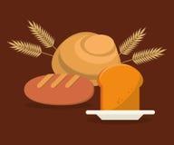 Type différent nourriture de nutrition de pain Illustration de Vecteur