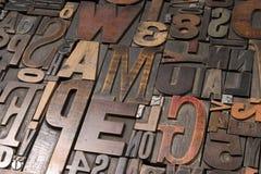 Type en bois - 2 Photographie stock libre de droits