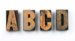 Type en bois photos stock