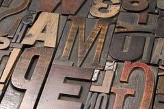 Type en bois 4 Photographie stock
