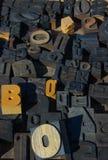 Type en bois blocs images libres de droits