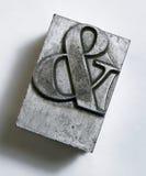Type en métal d'esperluète Photographie stock libre de droits