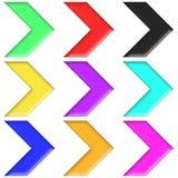 Type en plastique réglé par flèches multicolore (04) Photographie stock libre de droits