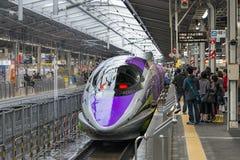 500 TYPE EVA, ruimteschip-als thema gehade Shinkansen Stock Foto's