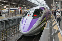 500 TYPE EVA, the spaceship-themed Shinkansen. Royalty Free Stock Image