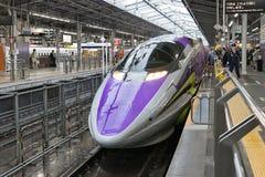 500 TYPE EVA, the spaceship-themed Shinkansen. Royalty Free Stock Photography