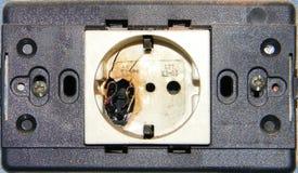 Burnt AC socket royalty free stock images