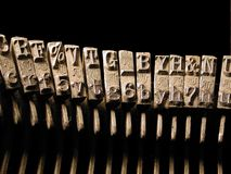 Type Face. From an old old type writer Stock Photo