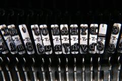 Type face close up. Close up of typewriter typeface Stock Photos