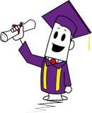 Type-Graduation carrée Photo stock