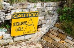 Type of hazard sign used to warn Submarine cable caution. A type of hazard sign used to warn Submarine cable caution stock images