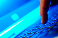 Type het toetsenbord Royalty-vrije Stock Foto's