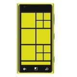 Type jaune Elagance de téléphone portable Photos stock