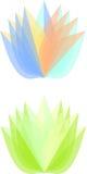 type logo de fleur Images stock