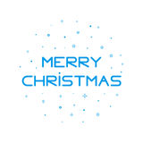 Type Merry Christmas background with snowflakes in outline style. New year 2017 vector Illustration with geometric elements. Design for banner web graphics Royalty Free Stock Images