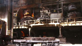 Type of metallurgical production stock video