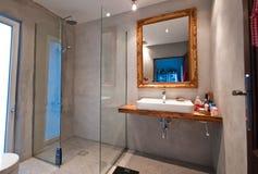 type moderne intérieur de résolution d'image élevée d'illustration de créateur de la salle de bains 3d Photos libres de droits