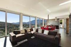Type moderne, salle de séjour Photo stock