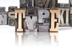 TYPE - movable type Royalty Free Stock Photo