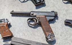 Type 14 Nambu WW2 Imperial Japanese Army 8mm Pistol Royalty Free Stock Images