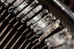 Type. An old typewriter, macro shot Royalty Free Stock Images