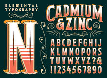 Type original conception de cadmium et de zinc illustration libre de droits