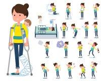 Type plat mère et baby_sickness illustration de vecteur