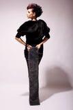 Type punk de modèle de mode dans le profil Photo libre de droits