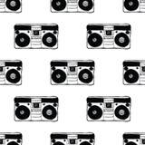 Type recorder seamless pattern. Royalty Free Stock Photos