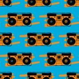 Type recorder seamless pattern. Royalty Free Stock Image