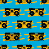 Type recorder seamless pattern. Royalty Free Stock Photo