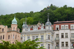 Type of the resort of Karlovy Vary. Czech Republic Royalty Free Stock Images