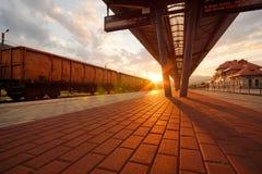 Type roumain train d'EACS de fret photographie stock