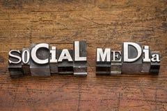 Type social en métal de media Photos stock